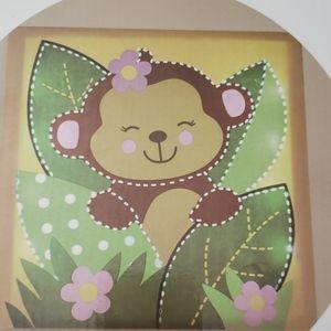 BabiesRUs Monkey light up wall art NWOT